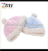 2012fashion plain cotton winter warm & comfortable baby hats