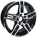 2014 alumínio brilhante jantes de rodas para o carro 17 polegadas preto e aro cromado( zw- e340)
