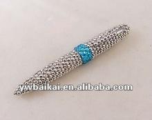 Diamond fashion style crystal metal twist ball pen