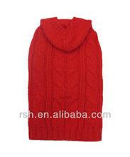 simple and elegant crocheted cable pet hoodie/pet wear RSH1190