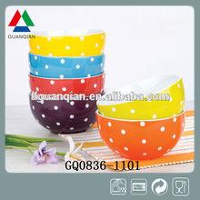 "5.1"" Dots Glaze Ceramic Bowl"