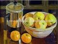 hecho a mano impresionista muerta pintura al óleo frutas sobre lienzo