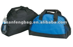 sports travel bag with mesh bottle pouch
