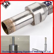 glass cutting diamond drill bit, thread handle, straight, cone