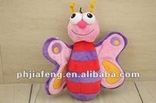 plush mini butterfly toys soft pet toys