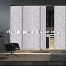 Silk Screen frosted glass interior doors