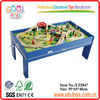 80pcs With Table Wooden Train Set