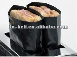 PTFE coated fiberglass heat resistant reusable sandwich toaster bag as seen on tv