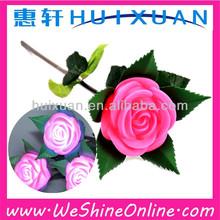 simulation Rose Light colorful valentine's Romantic night light plastic led roses for promotion wholesale