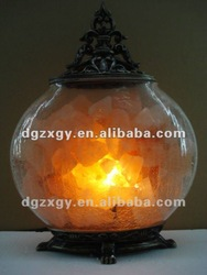 Pumpkin Crystal Salt Lamp