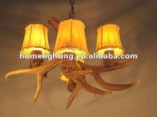 Resin Deer Antler Chandelier 4 Lights Rustic Lamp Lighting A040
