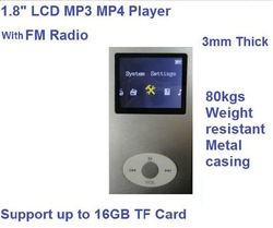 New arrival good quality discount 1.8inch LCD digital mp3 mp4 music player with card slot