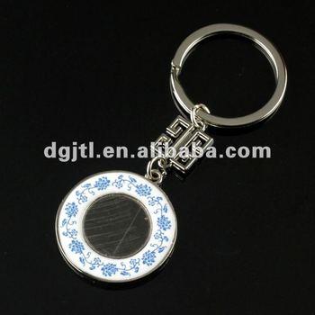 Fashion metal key rings fobs