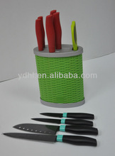 colorful kitchen knife set