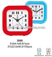 2015 Hot Sale quartz mini Small Alarm Clock(3050)