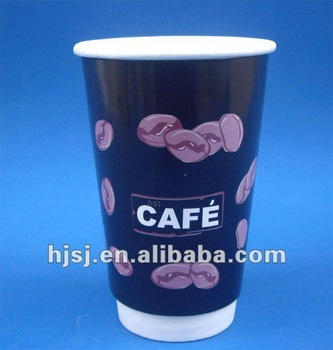 Disposable double wall paper coffee cup - factory