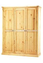 W-B-0038 pine wood bedroom cupboards design