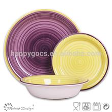 assorted colored dinner set/Ceramic 18PCS Dinner Set 3 place settings