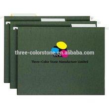 Hanging File Folders, 25/box, A4, 3 Tab, Standard green