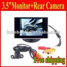 """New 3.5"""" TFT LCD Rear view Monitor + COLOR IMAGE Car Reverse Backup Camera"""
