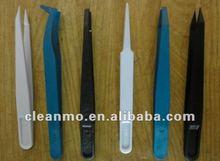 Pointed Tipped ESD Safe snap Tweezer,plastic tweezer,disposable,white/black/blue