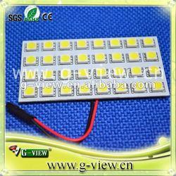 SUPER BRIGHT LED WHITE Dome / Map LIGHT BULBS 12 smd 5050 panel pcb cars light led