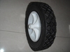solid rubber wheel 7x1.5 plastic rim