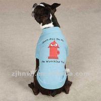 blue plain dog t-shirt/pet t-shirt/dog apparel