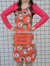 La nueva y popular caliente de la venta en ee.uu. marketing rojo delantal de la navidad