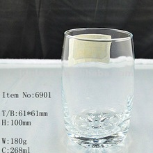 2012 Carved bottom Drinking Glass cup