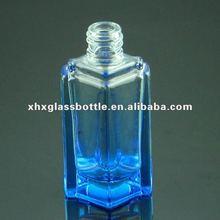30ml blue perfume empty glass bottle with screw neck