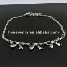 2012 silver anklet