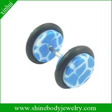 Acrylic faux ear stretcher piercing body jewelry
