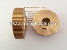 Brass machined power transmission spur gear made in China,price of spur gears