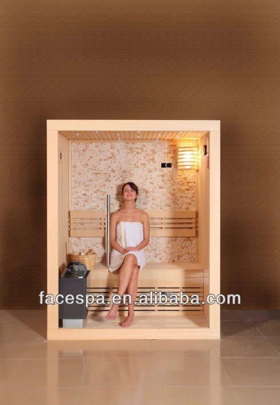 mini square sauna room with full glass door view sauna. Black Bedroom Furniture Sets. Home Design Ideas