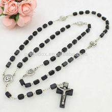 Rosary wood prayer beads rosary - CATHOLIC Rosary Crucifix Necklace