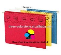 Color hanging File Folders, 25/Box, 5 Tab, Embossing