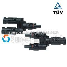 MC4 PV Connectors (male+female),TUV certification,cable/wire 2.5/4/6mm2,Positive Negative branch