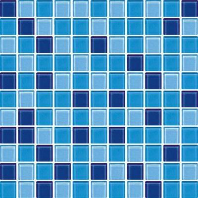 300 300 Mm Barato De La Piscina Azul Mosaico De Vidrio De Cristal Azulejos De Mosaico