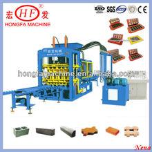 QT6-15B fully automatic interlocking brick machine color facce interlock brick making machinery