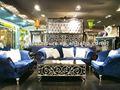 sala de estar sofá de madeira clássica define a10095