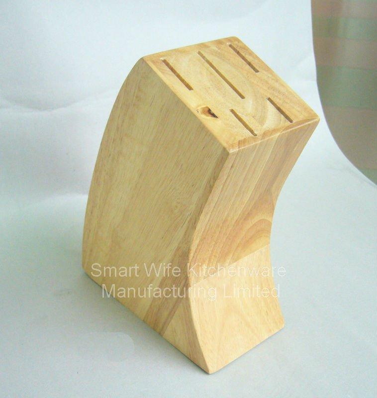 5-slot wooden kitchen knife storage tool