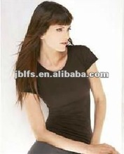 2012 women's gauze jersey t-shirts with puff sleeves