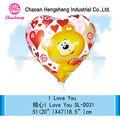 nuevo diseño 18 pulgadas en forma de corazón de escarda globo del partido de la decoración