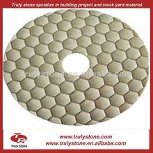 Resin dry diamond polishing pad