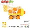 Porca de madeira brinquedos veículo de reboque de caminhão
