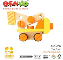 Wooden Nut Vehicle Toys Tow Truck