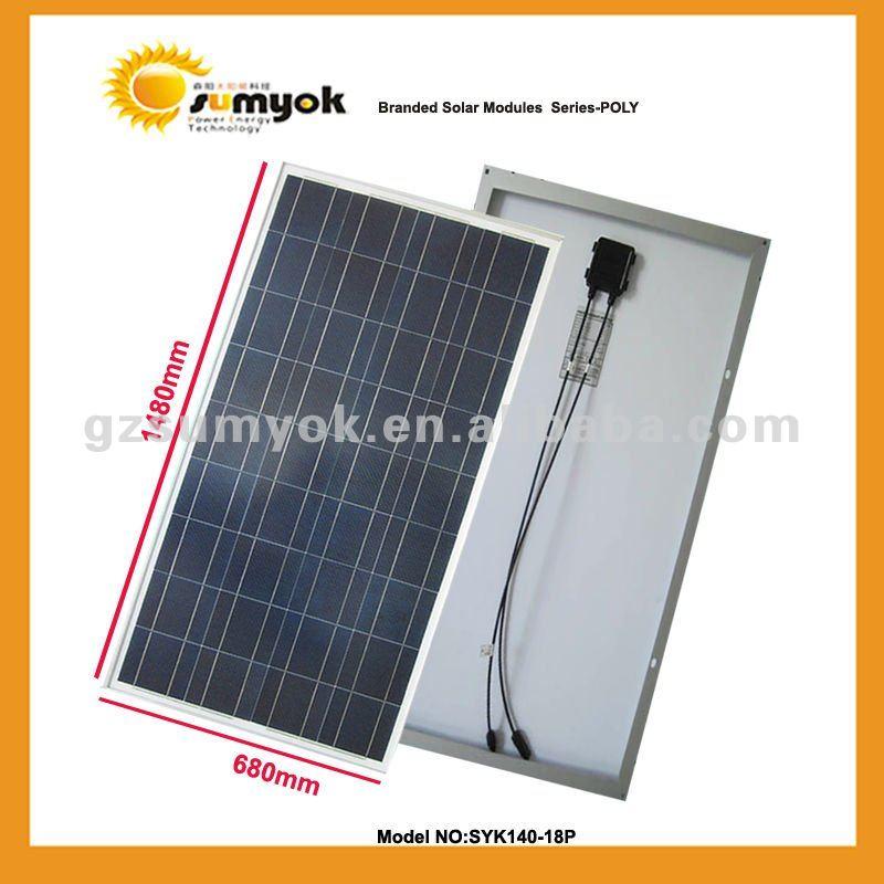 140W polyc solar cell panel factory SYK140-18P