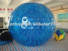 blue inflatable hamster grass/aqua zorb ball