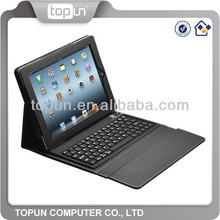 2014 Popular Bluetooth keyboard leather case for Apple Ipad customized support